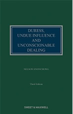 Duress, Undue Influence and Unconscionable Dealing 3rd edition