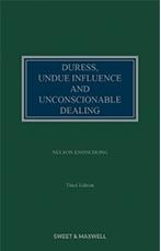Duress, Undue Influence and Unconscionable Dealing 3rd