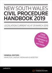 NSW Civil Procedure Handbook 2019 Book and eBook