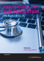 Paramedic Law and Regulation in Australia Book + eBook