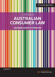 Corones' Australian Consumer Law 4th edition book + eBook