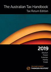Australian Tax Handbook Tax Return Edition 2019 Book + eBook