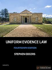 Uniform Evidence Law 14th Edition - Book & eBook