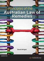 Principles of the Aust Law of Remedies esub