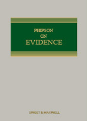 Phipson on Evidence 19e 1st SUPP