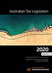 AUSTRALIAN TAX LEGISLATION 2020 VOLUME 4-BOOK
