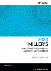 Millers Aust Comp And Cons Law Annotated 42 E 2020 Thomson