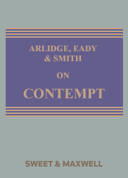 ARLIDGE EADY & SMITH ON CONTEMPT 5E MAINWORK+SUPPLEMENT