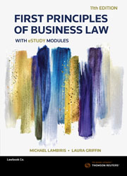 First Principles of Business Law with eStudy modules 11th ed bk