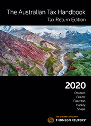 AUSTRALIAN TAX HANDBOOK TAX RETURN EDITION 2020