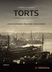 Torts: Commentary and Materials 13th edition