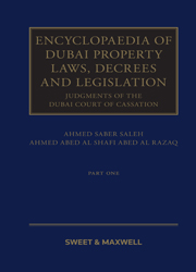 ENCYCLOPAEDIA OF DUBAI PROPERTY LAWS Invoice Desc: ENCYCLOPAEDIA OF DUBAI PROPERTY LAWS, DECREES AND LEGISLATION