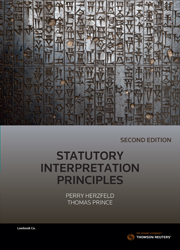 Statutory Interpretation Principles 2nd Edition ebk