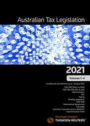 Australian Tax Legislation 2021 Volumes 1-4 - eBook