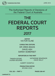 Federal Court Reports Bound Volumes Only