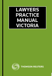 Lawyers Practice Manual Victoria Springvale Legal Centre