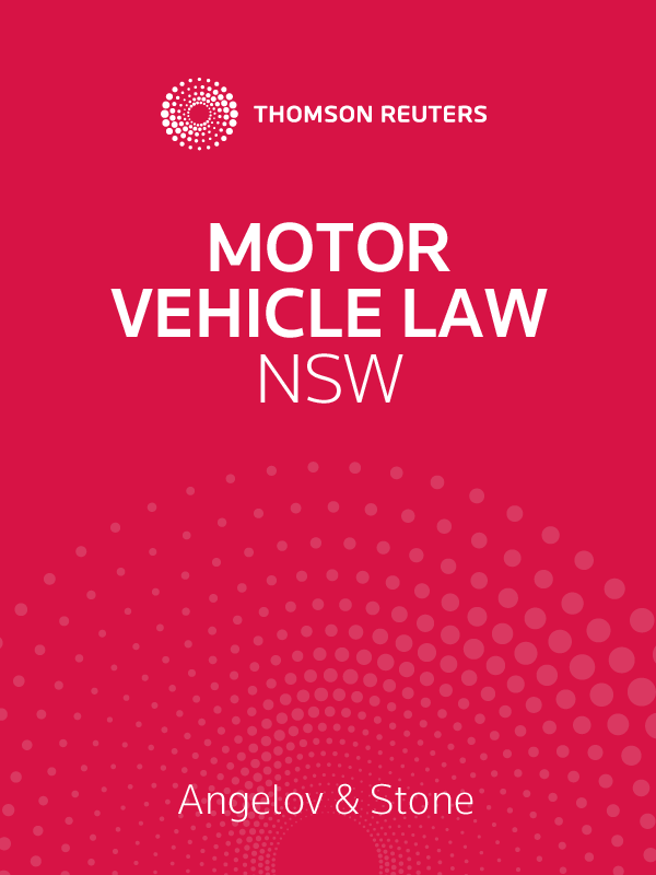 Motor Vehicle Law NSW Volumes 1 & 3