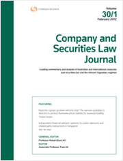 Company and Securities Law Journal: Parts