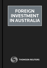 Foreign Investment in Australia 1 Volume