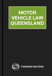 Motor Vehicle Law Queensland Thomson Reuters Australia