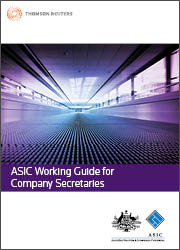 ASIC Working Guide for Company Secretaries: CD