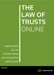 The Law of Trusts Ford & Lee