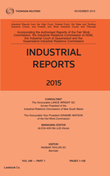 Industrial Reports Parts and Bound Volumes