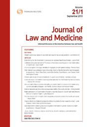 Journal of Law and Medicine: Parts
