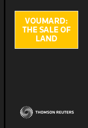 Voumard: The Sale of Land