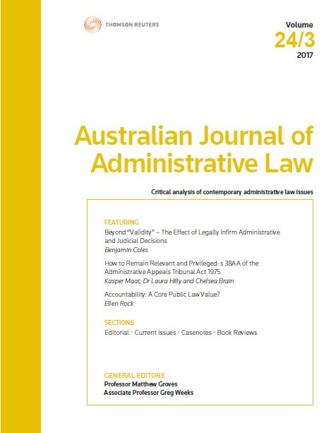 Australian Journal of Administrative Law: Parts