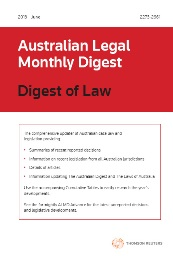 Australian Legal Monthly Digest Only