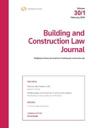 Building and Construction Law Journal: Parts