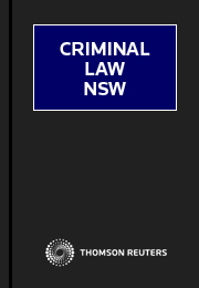 Criminal Law NSW 3 Volumes (Volumes 1  2  2A)