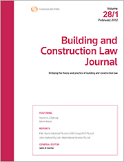 Building and Construction Law Journal: Bound Volumes