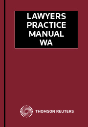 Lawyers Practice Manual Western Australia