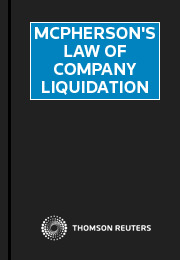 McPherson's Law of Company Liquidation Online