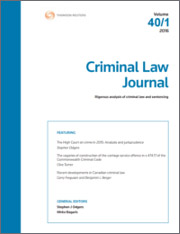 Criminal Law Journal: Parts & Bound Volumes