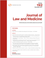 Journal of Law and Medicine: Parts and Bound Volumes