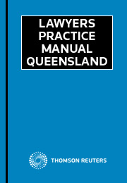 Lawyers Practice Manual Queensland