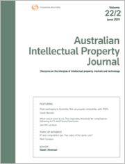 Australian Intellectual Property Journal: Online