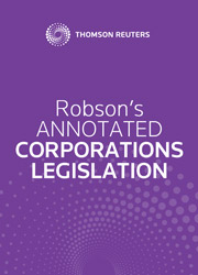 Robson's Annotated Corporations Legislation