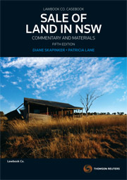 Sale of Land in NSW: Commentary and Materials, 5th Edition
