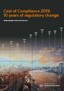 Cost of Compliance Survey 2019: After 10 Years of Regulatory Change, Nothing Is Certain Except More Change