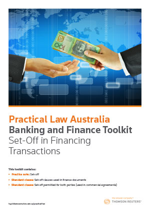 Set-Off in Financing Transactions