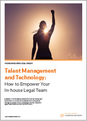 Whitepaper: Talent Management and Technology: How to Empower Your In-house Legal Team