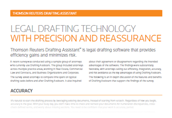 Drafting Assistant L Deal Proof L Thomson Reuters Australia - Legal document drafting software
