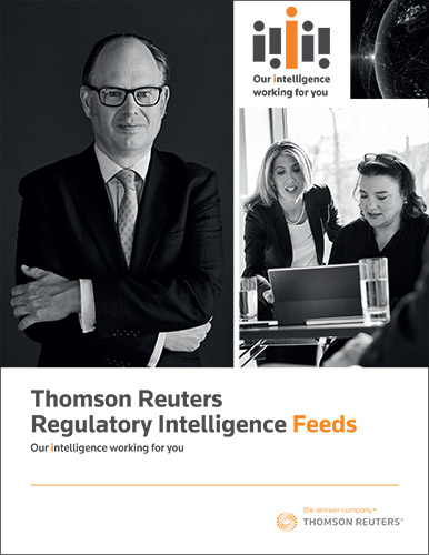 Download Regulatory Intelligence brochure